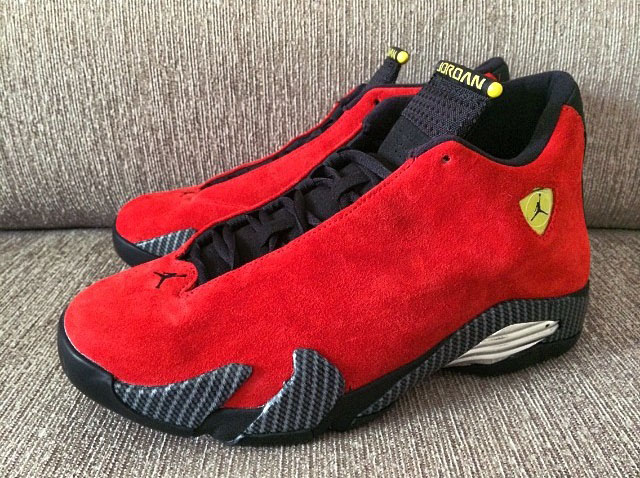Air Jordan 14 XIV Red Suede (1)