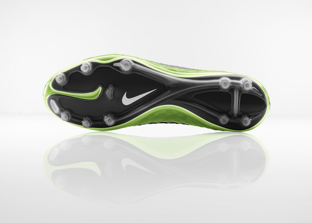 nike hypervenom flash lime split toe plate