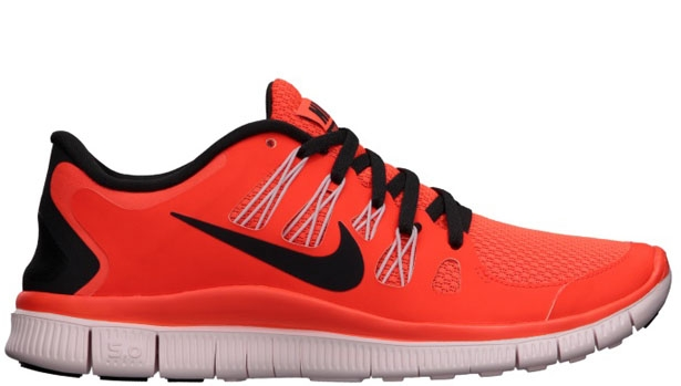 Nike Free 5.0+ Women's Total Crimson/Light Blue-Polarized Pink