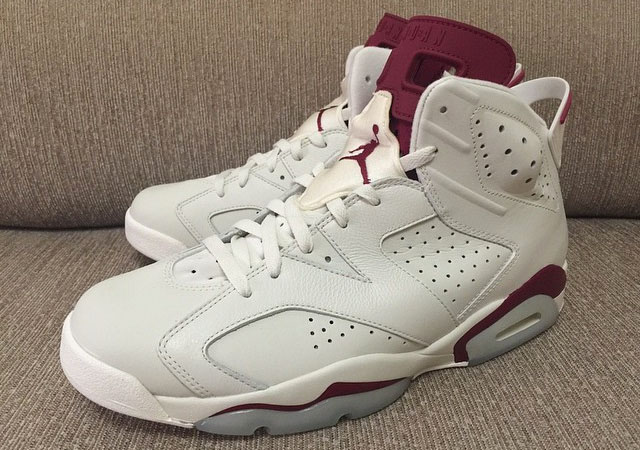 Air Jordan 6 Maroon with Nike Air (2)