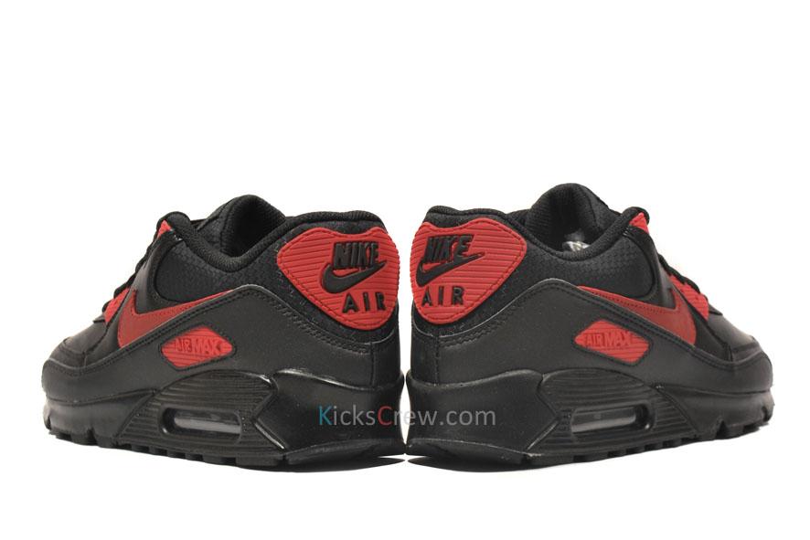 5e43b2cd8337 nike air max 90 premium black red .