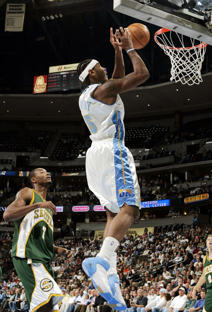 Carmelo Anthony wearing Jordan Melo 1.5 Nuggets Home (1)