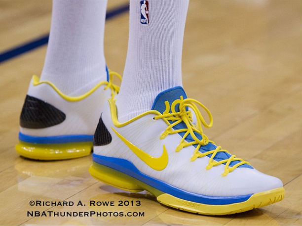 Nike KD V Elite White Blue Yellow (2)
