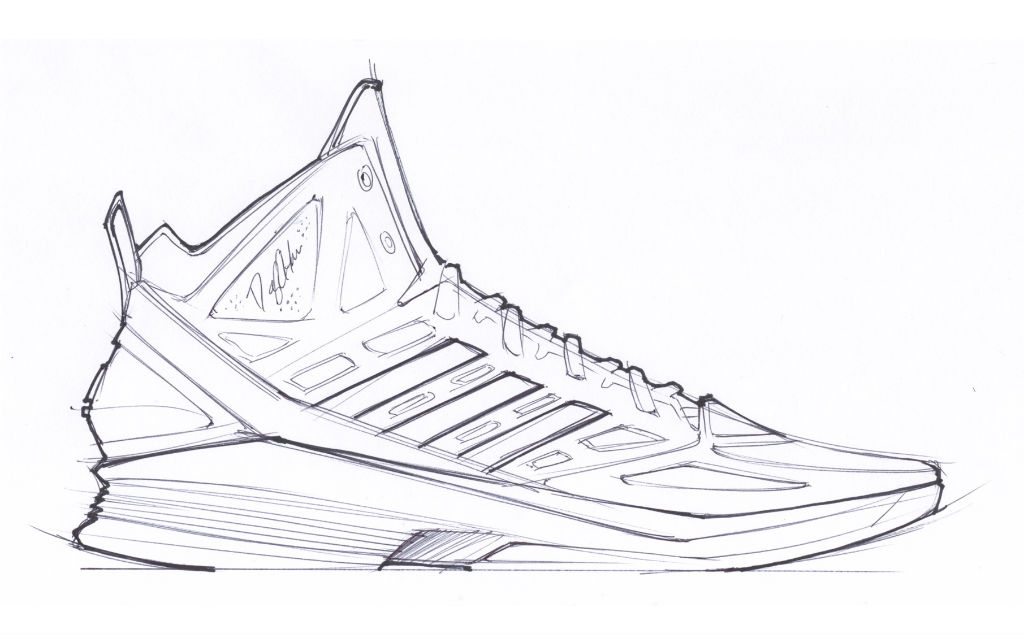 Sketch Work // adidas D Howard Light