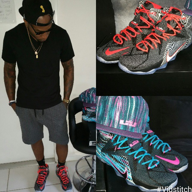 new style 98eed b2ef6 ... inexpensive da real lambo wearing nike lebron 12 court vision cb972  2af44