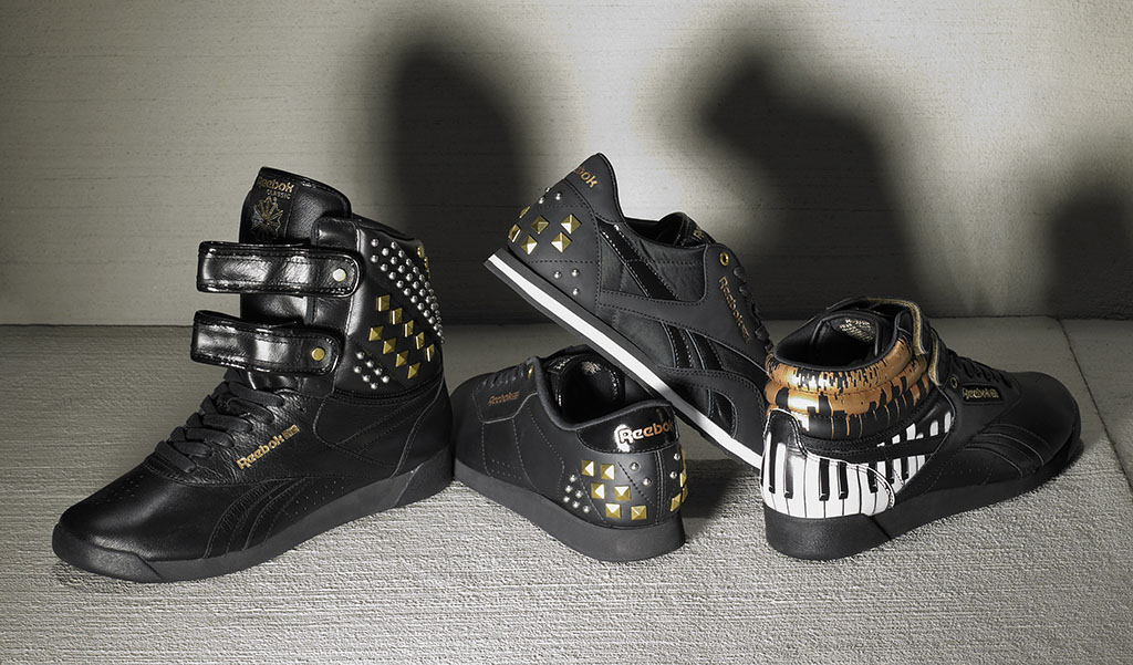 Alicia Keys x Reebok Classics Studs Group