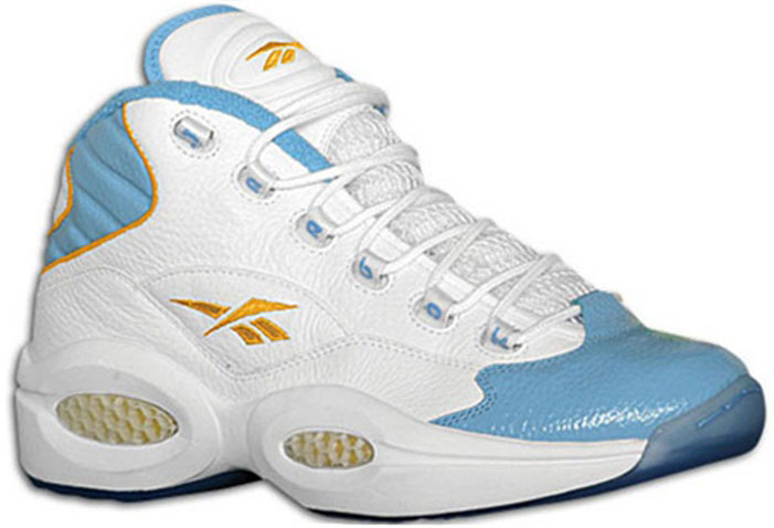 Reebok Question White/Carolina Blue-Gold Nuggets Home