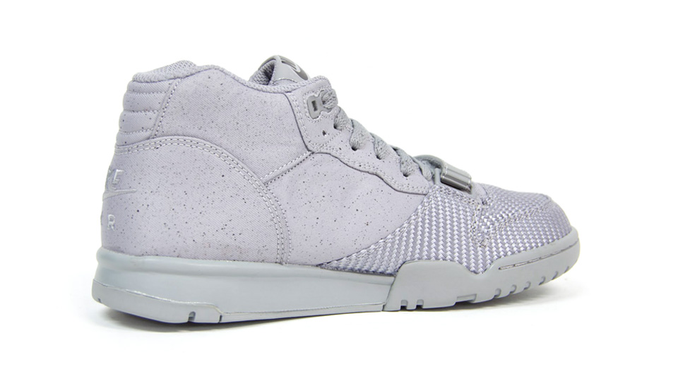 Nike Air Trainer 1 Mid SP Monotones pack in silver and midnight fog medial