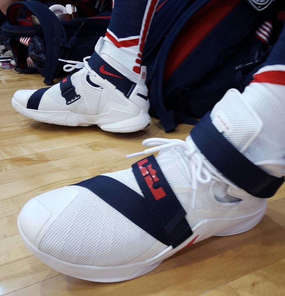 b8d362e4616  SoleWatch  LeBron James Made His USA Minicamp Debut in the Soldier 9