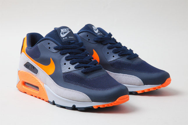 Nike Air Max 90 Hyperfuse Bears Navy Grey Bright Orange (2)