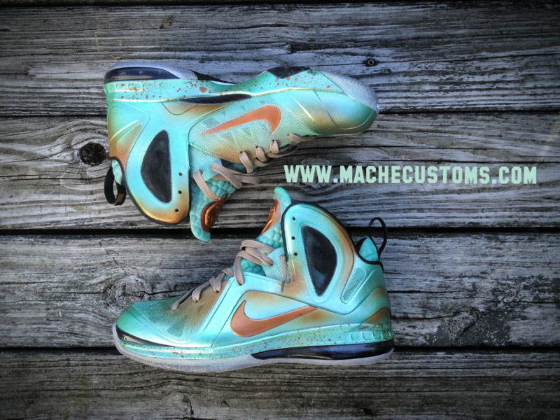 Nike LeBron 9 P.S. Elite Statue of Liberty by Mache Custom Kicks (1)