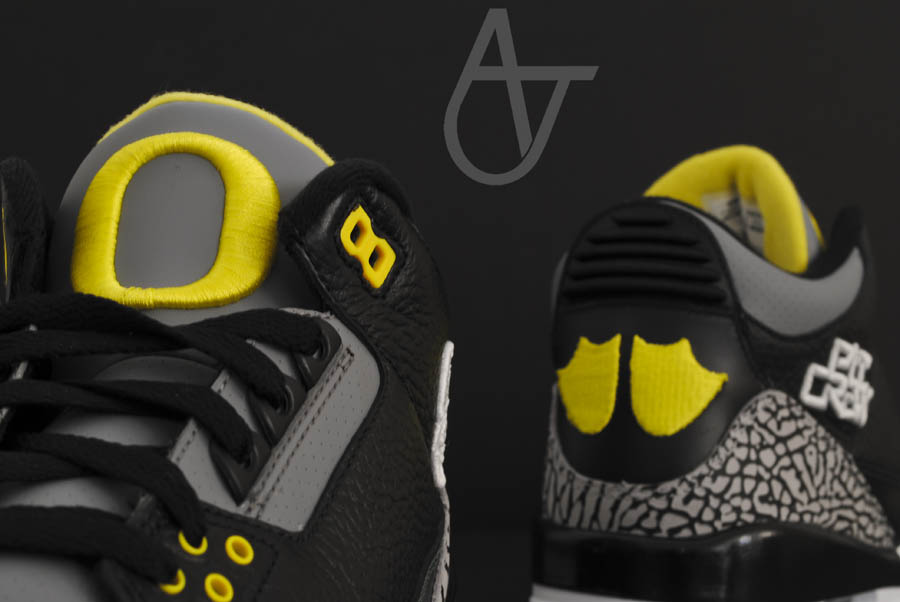 Air Jordan Retro 3 - Oregon Ducks Pit Crew Away (9)