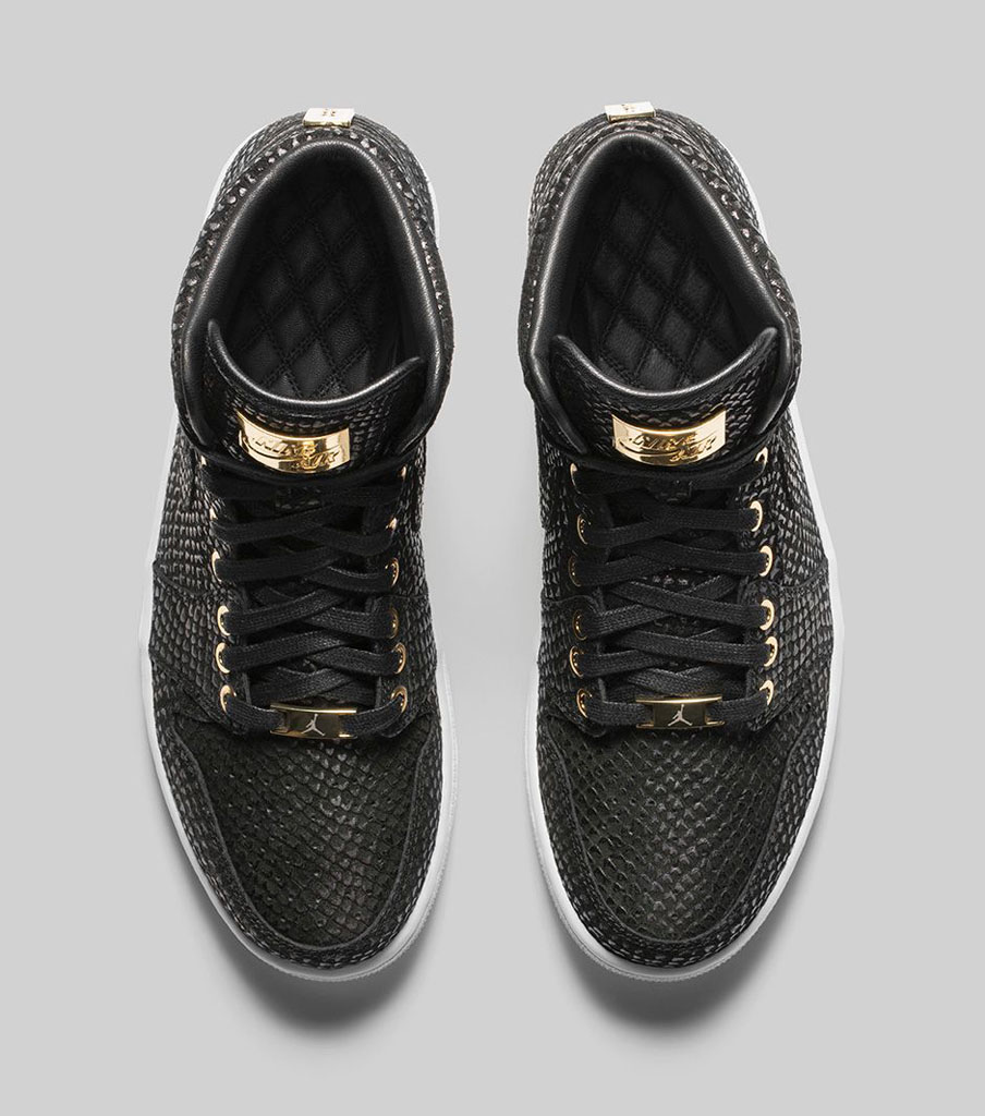 Air Jordan 1 Pinnacle Black/Gold 705075-030 (5)