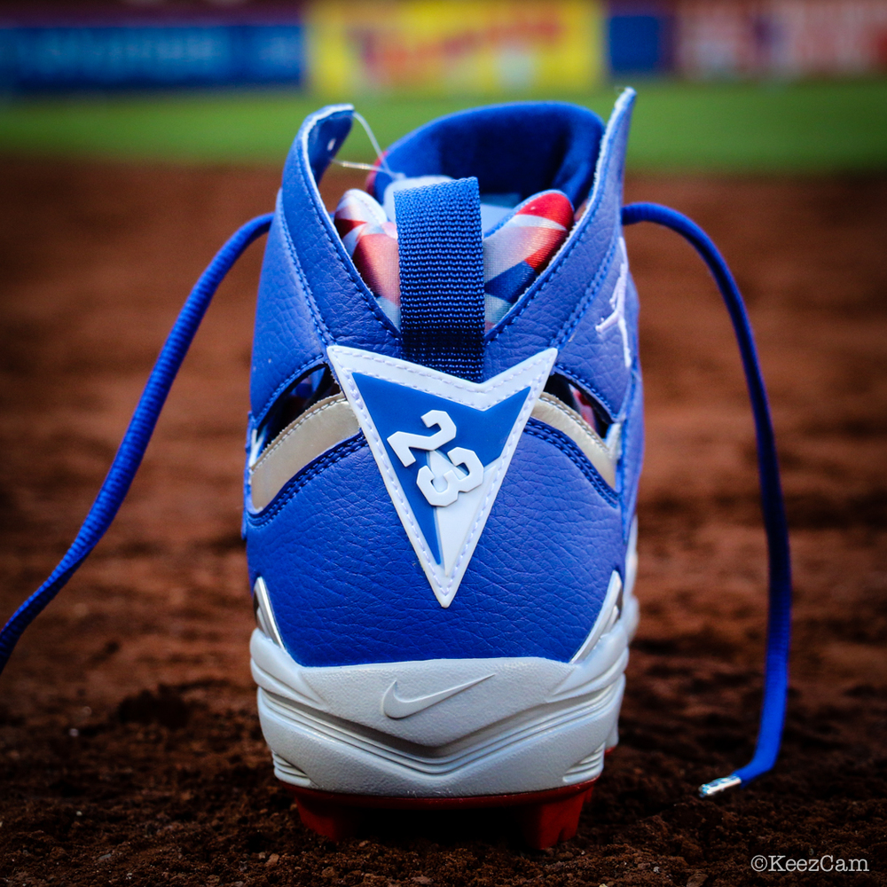 Air Jordan 7 Carl Crawford Dodgers PE Cleats (2)