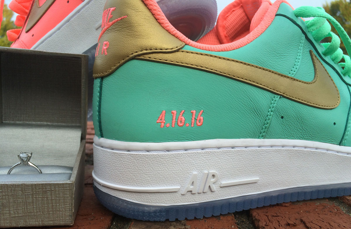 Wedding Married Nike Air Force 1 Sneakers (7)