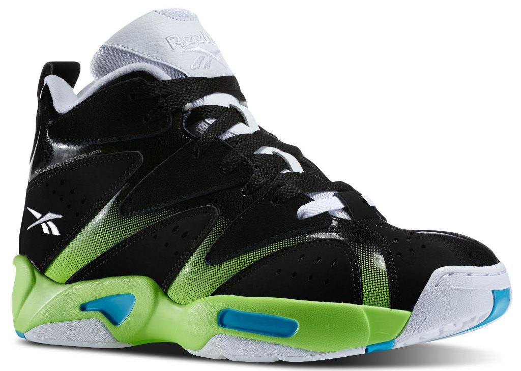 Reebok Kamikaze 1 Black/White-Green Blue M43287 (1)