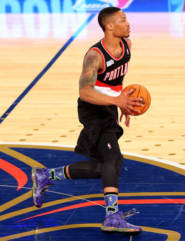 Damian Lillard wearing adidas Crazy 1 All-Star