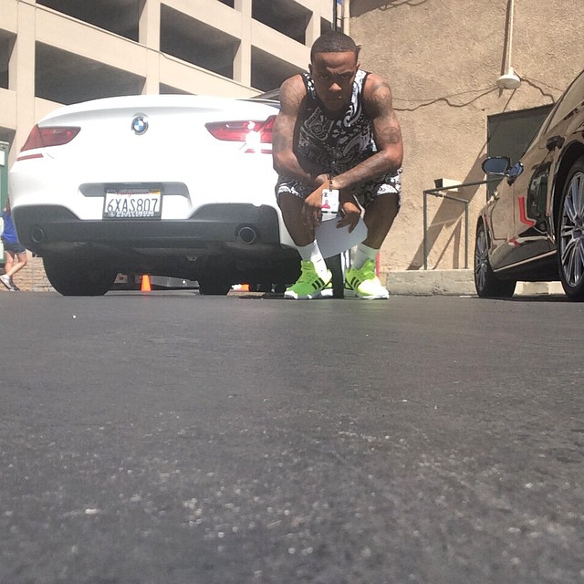 Bow Wow wearing adidas ZX Flux