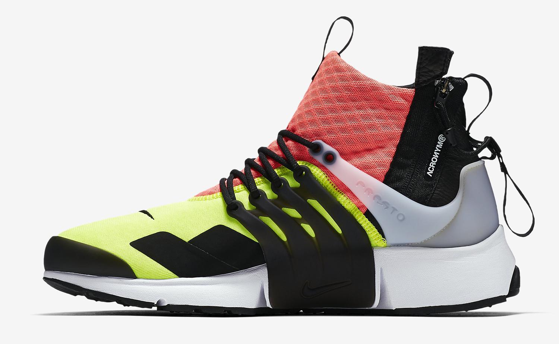 Acronym Nike Air Presto Hot Lava 844672-100 Medial