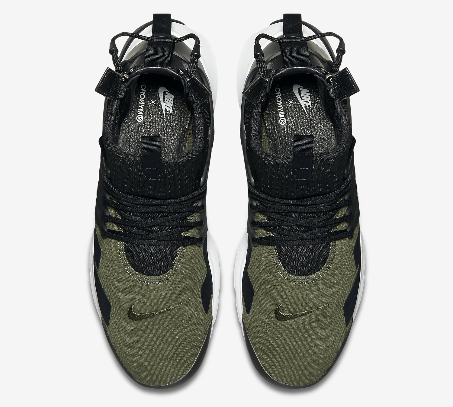 Acronym Nike Air Presto Mid 844672-200 Olive Black Top