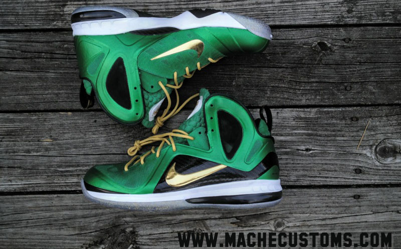 Official Nike Zoom Lebron 9 P.S Elite Varsity Maize Yellow Black