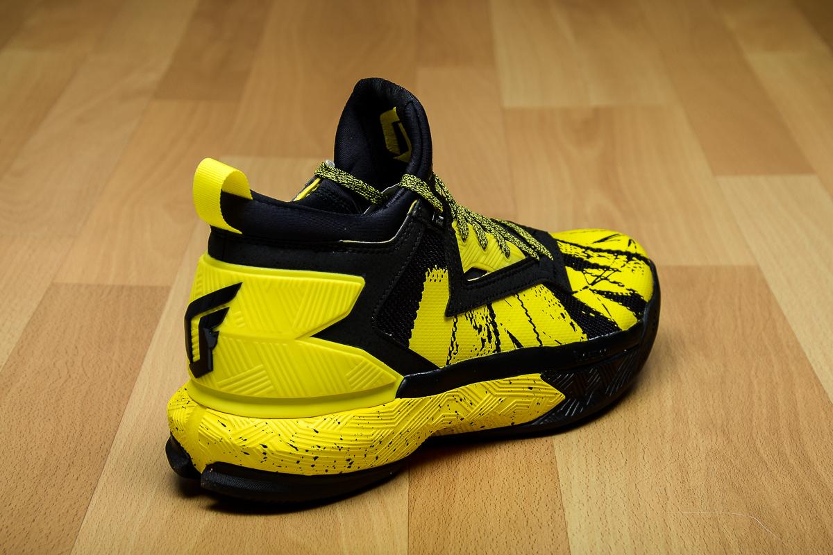 adidas D Lillard 2 Black/Yellow Heel B42354