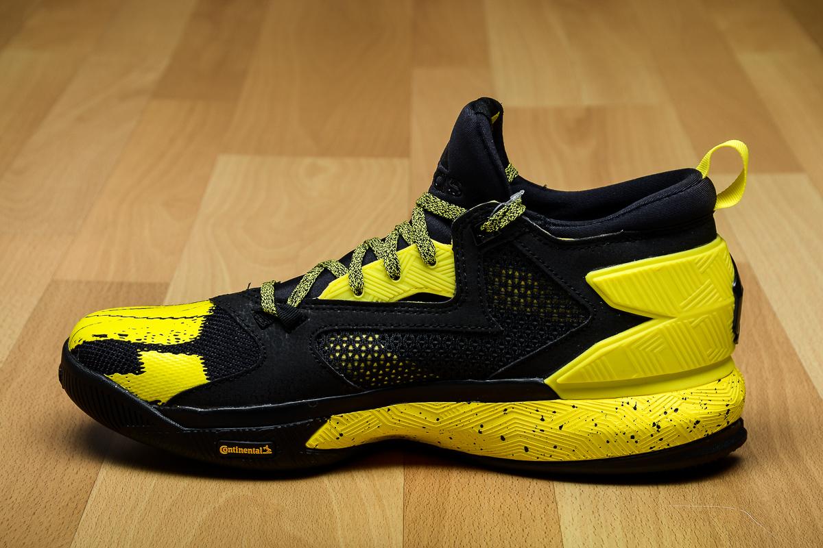 adidas D Lillard 2 Black/Yellow Medial B42354
