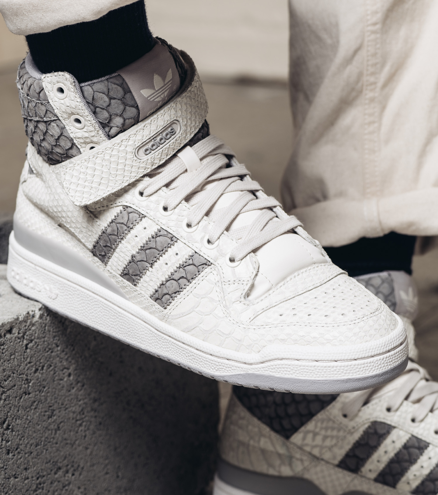 Adidas Forum Snakeskin White Grey