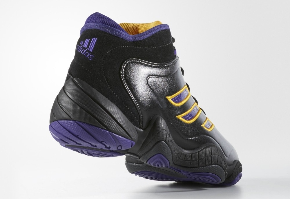 Adidas KB8 3 retro in black, gold, and purple