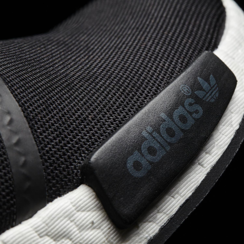 Adidas NMD Black Suede Blue Toe Detail