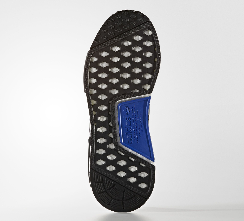 Adidas NMD Black Suede Blue Sole