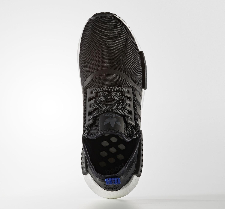 Adidas NMD Black Suede Blue Top