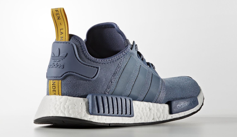 Adidas NMD Blue Suede Heel
