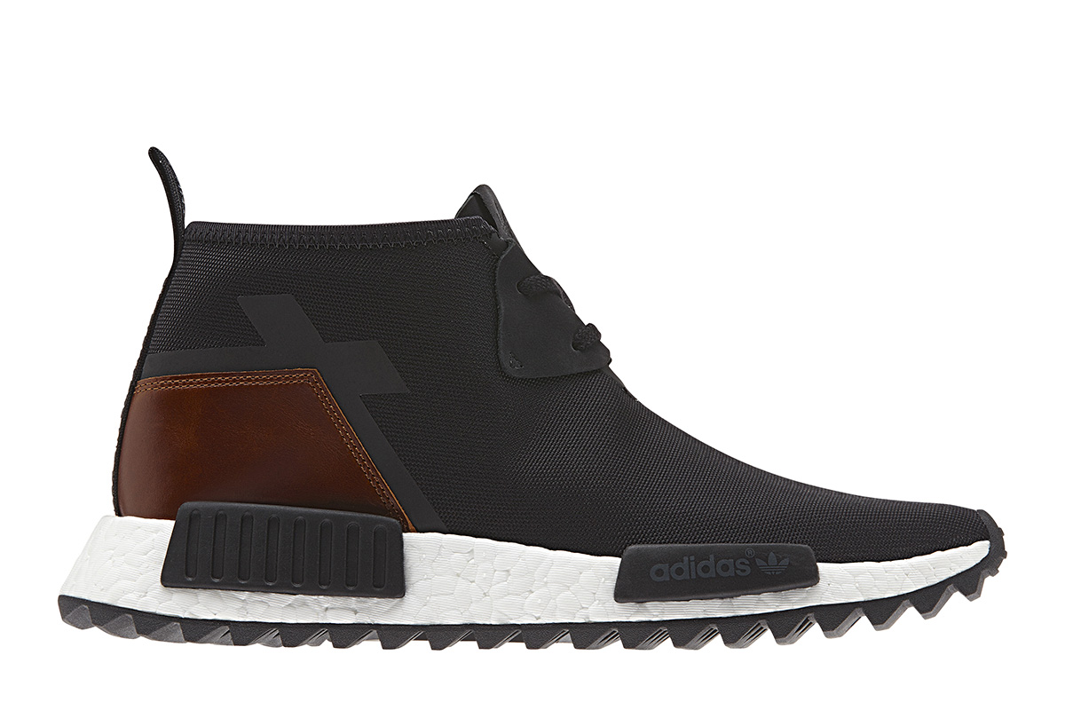 NEW ADIDAS NMD C1 TR CHUKKA WINTER BLACK LEATHER