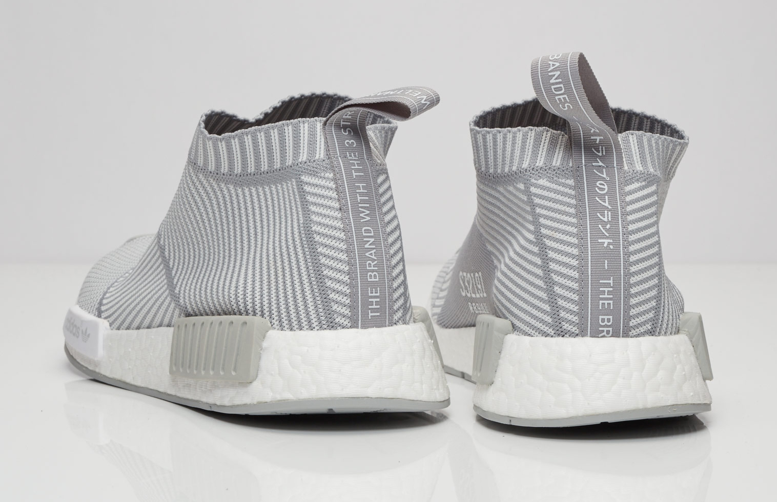 Adidas NMD City Sock Grey White Heel