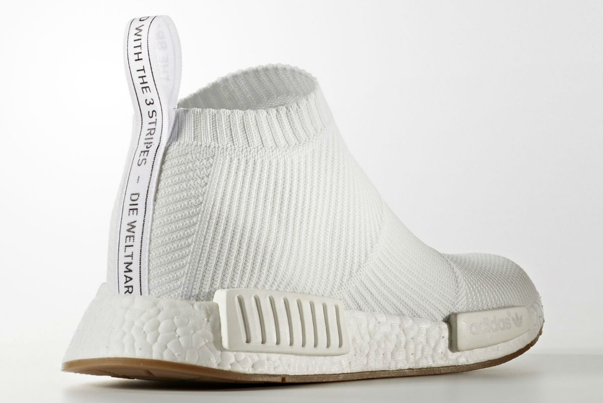 adidas NMD City Sock White Heel