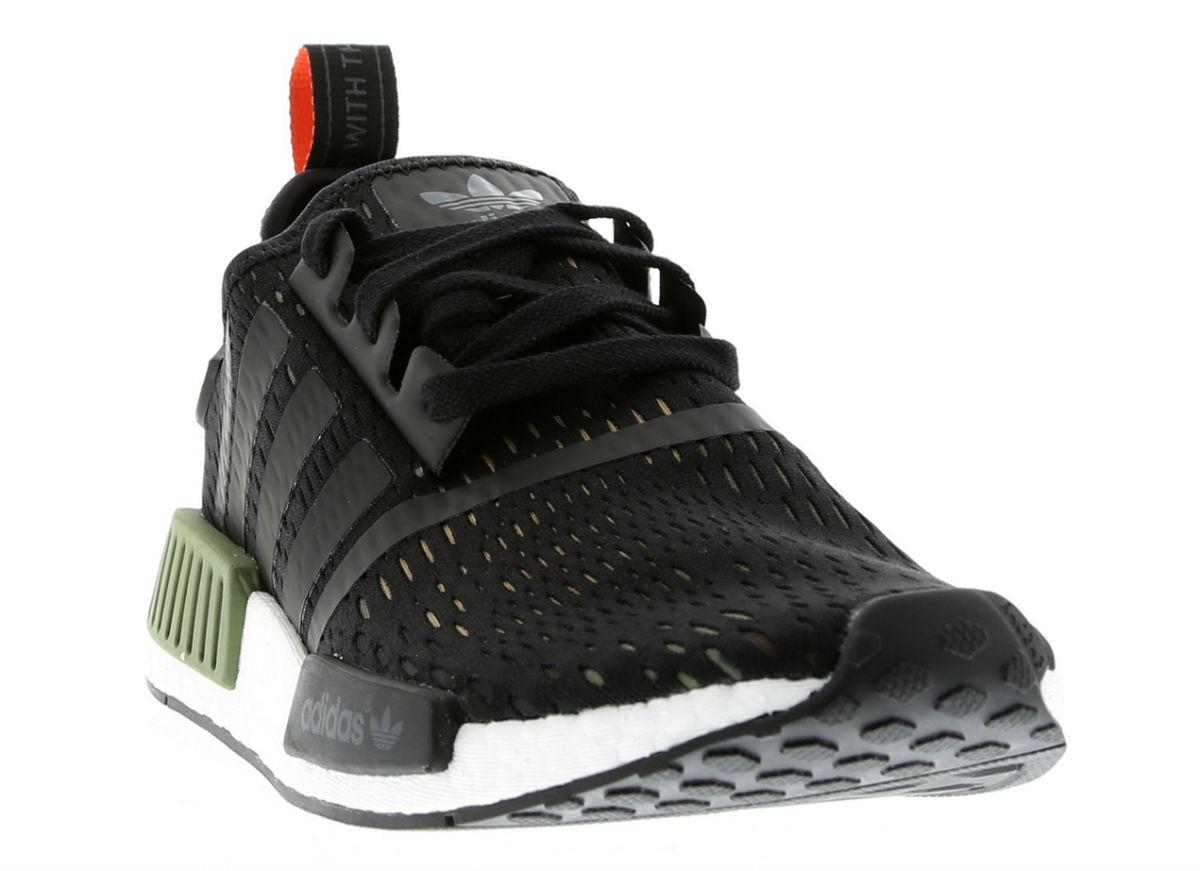 adidas NMD R1 Base Green Core Black White Toe