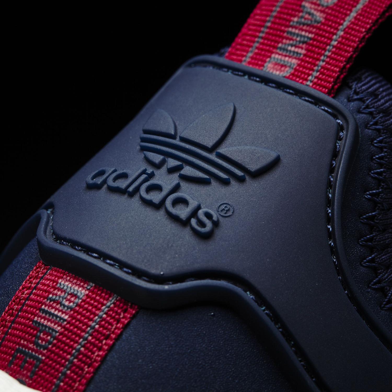 Adidas NMD Navy Suede Heel Detail