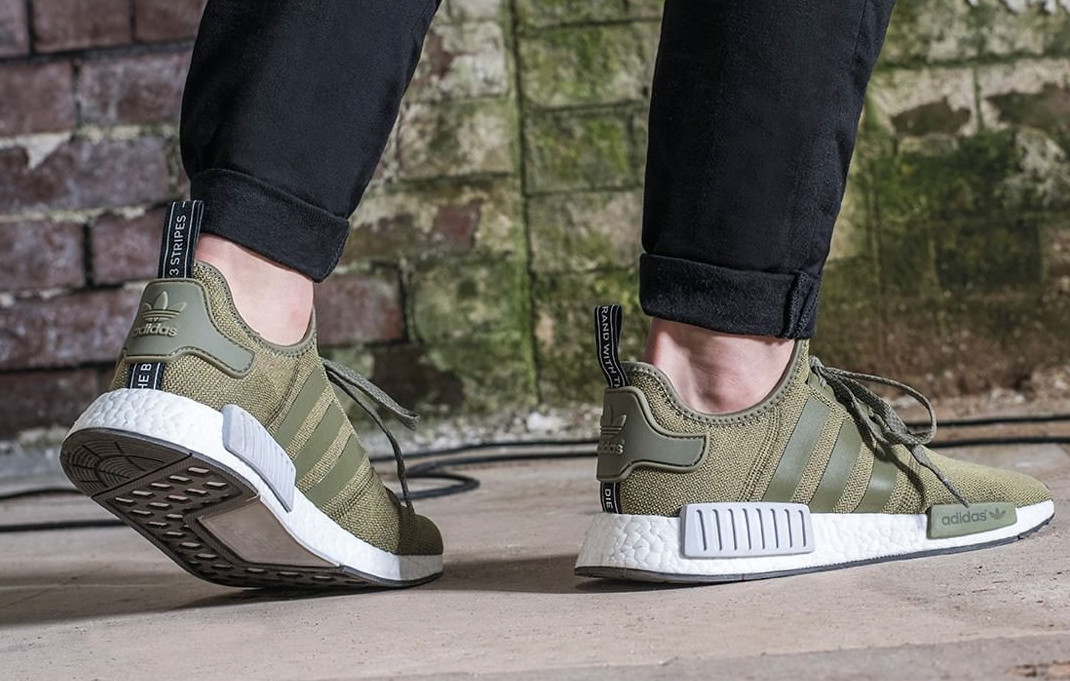 463df34bf77 Olive Adidas NMD On Feet
