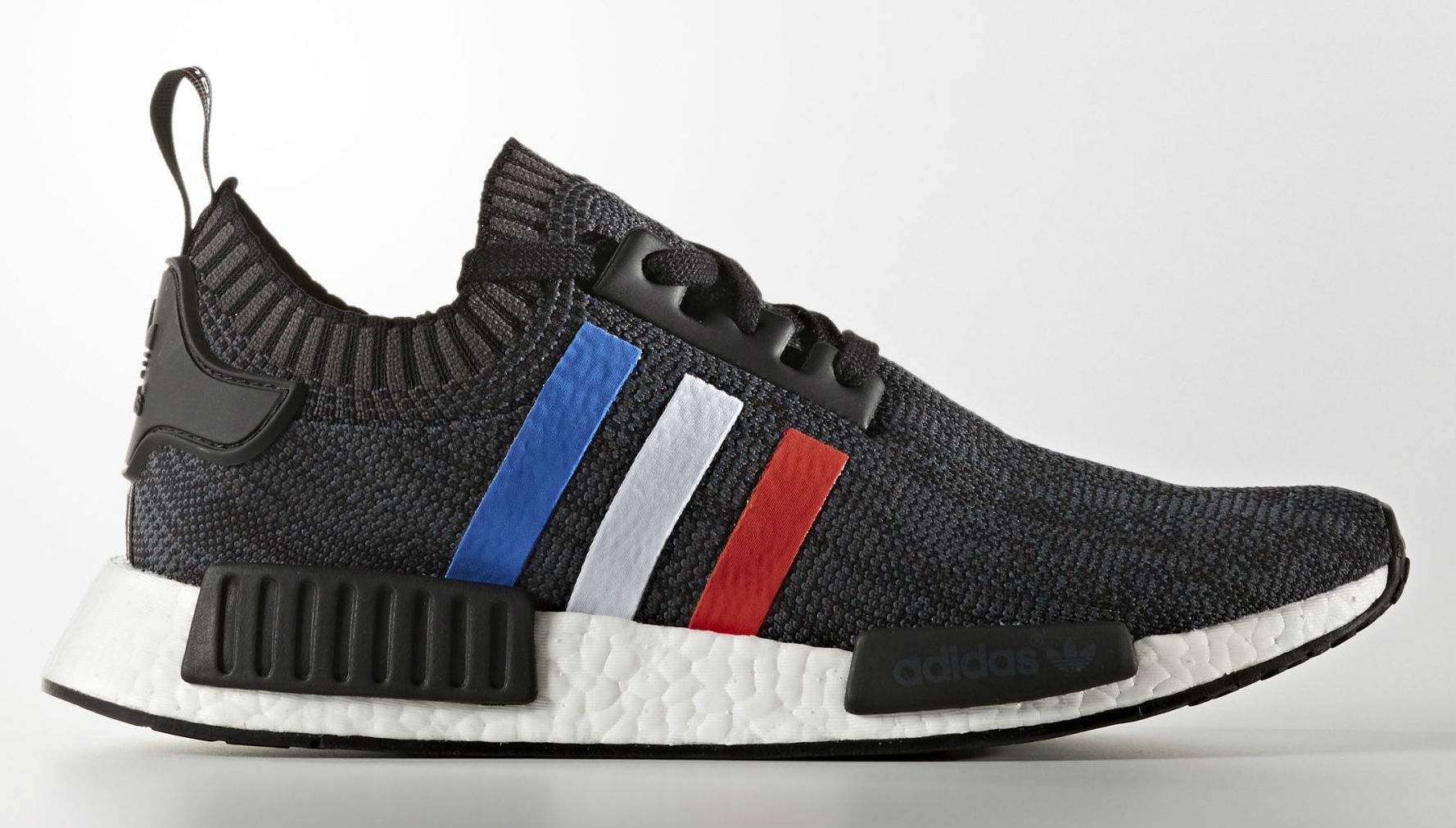 adidas nmd primeknit red white blue stripes sole