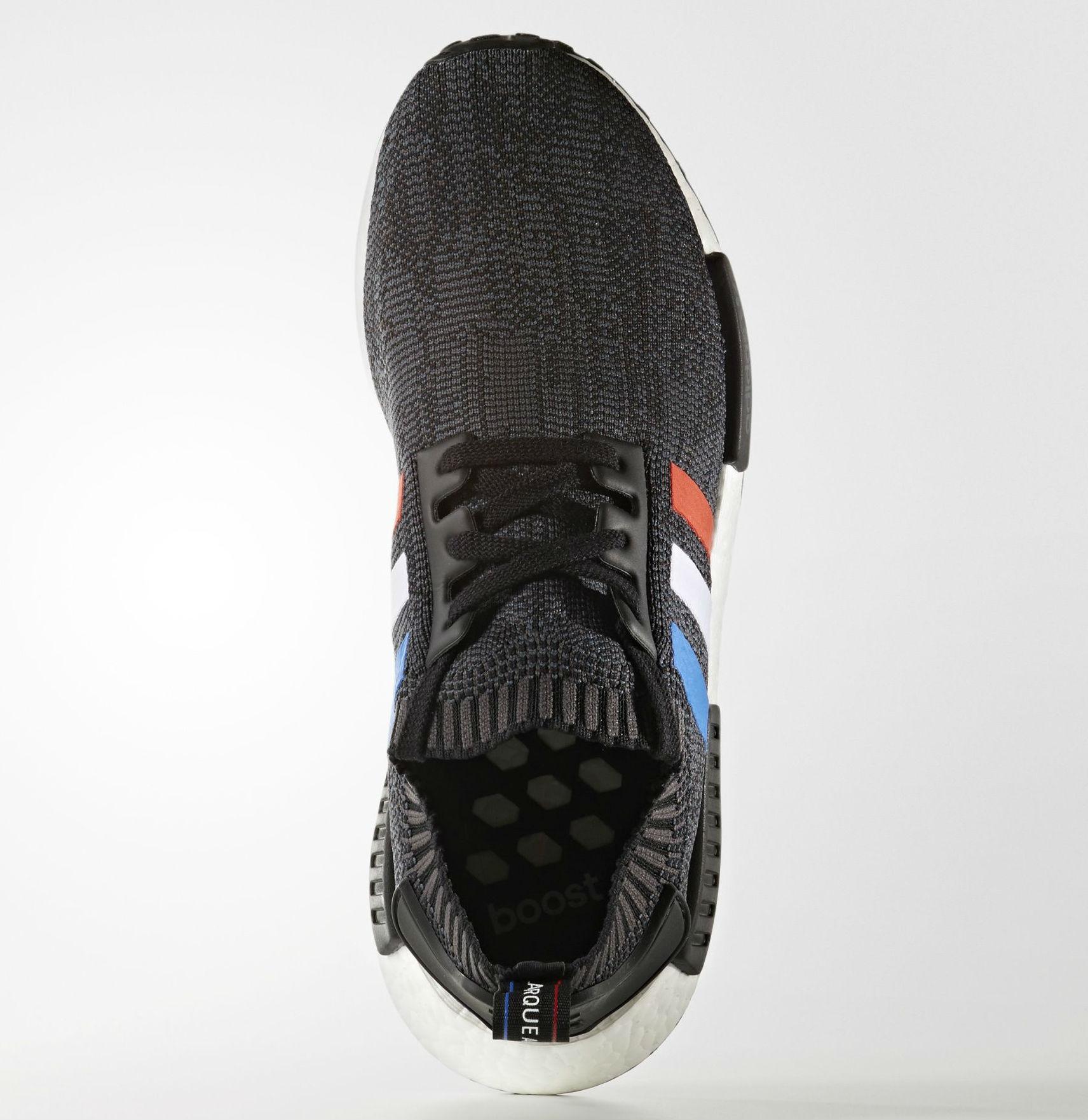 adidas NMD Primeknit Red White Blue Stripes Toe BB2887