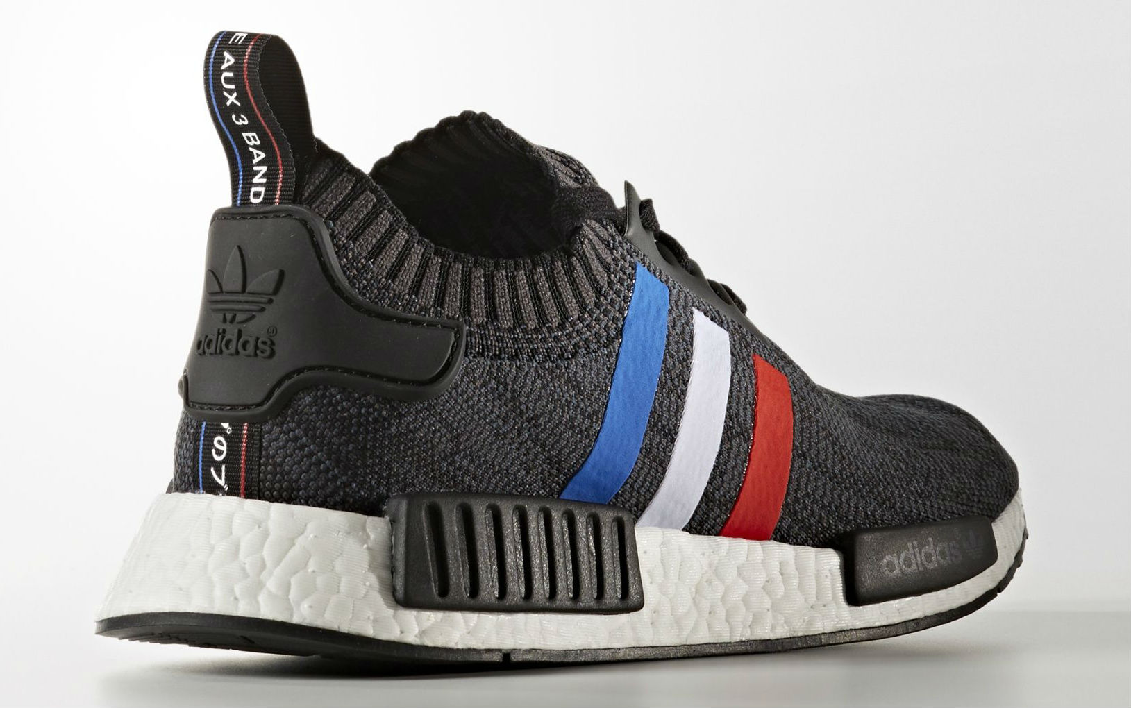 6a1c96f7e adidas NMD Primeknit Red White Blue Stripes Lateral BB2887
