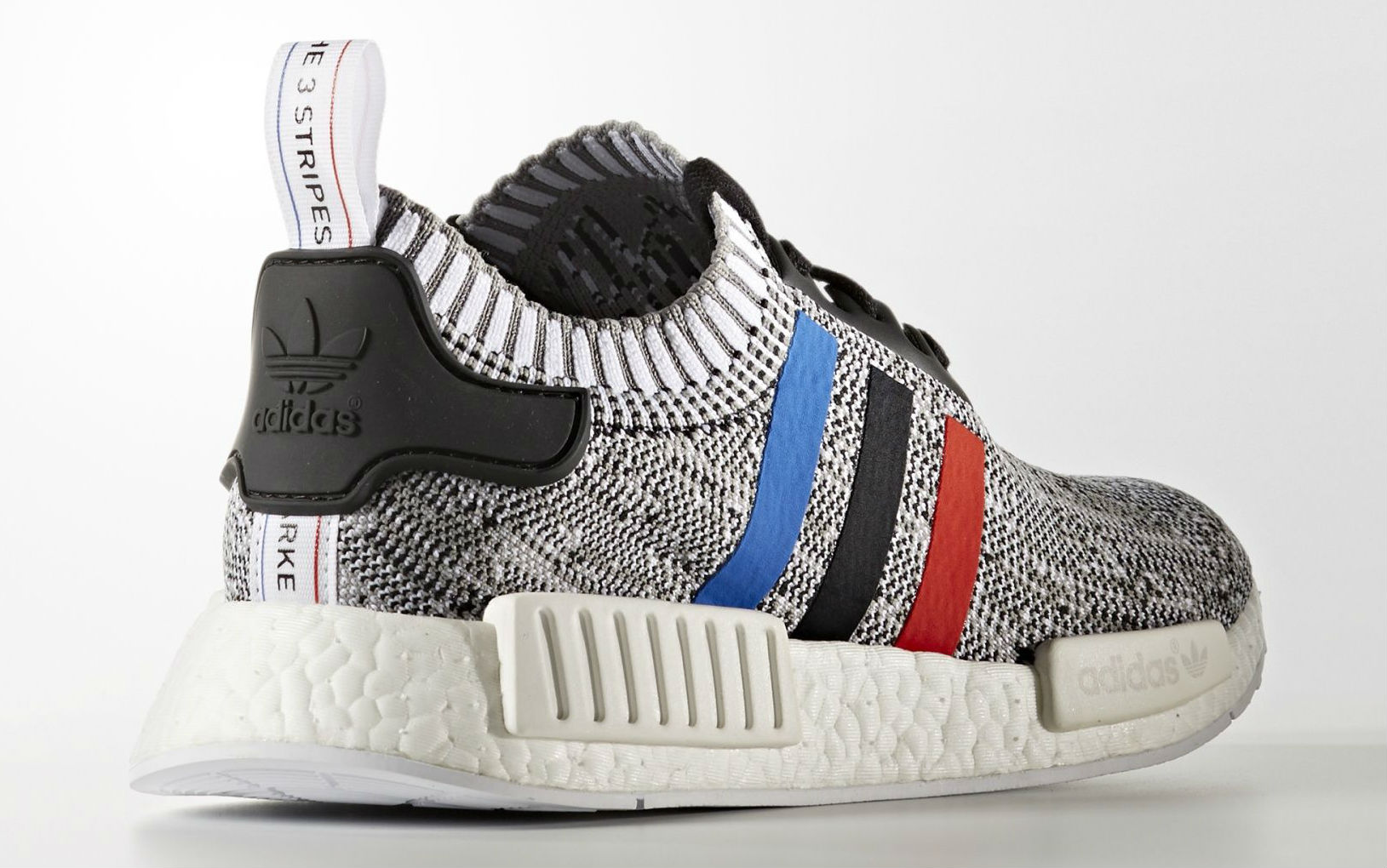 huge discount 5d5fa b8bb5 adidas NMD Primeknit Red White Blue Stripes Lateral BB2887