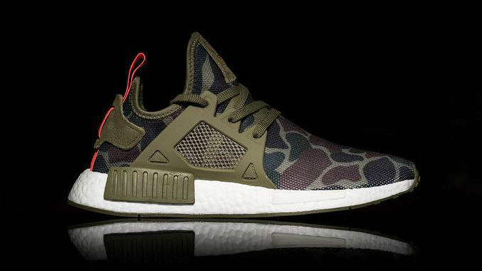 factory authentic 7952d d279b adidas NMD XR1 Green Camo Side
