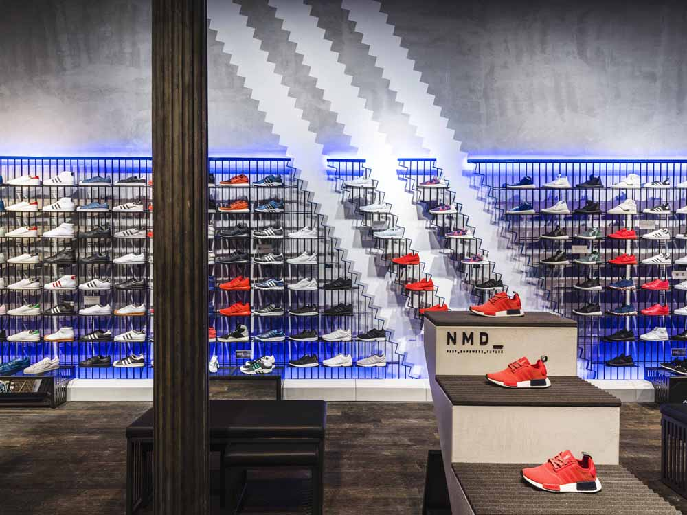 Adidas originals store nyc spring st soho sole collector for Furniture stores nyc soho