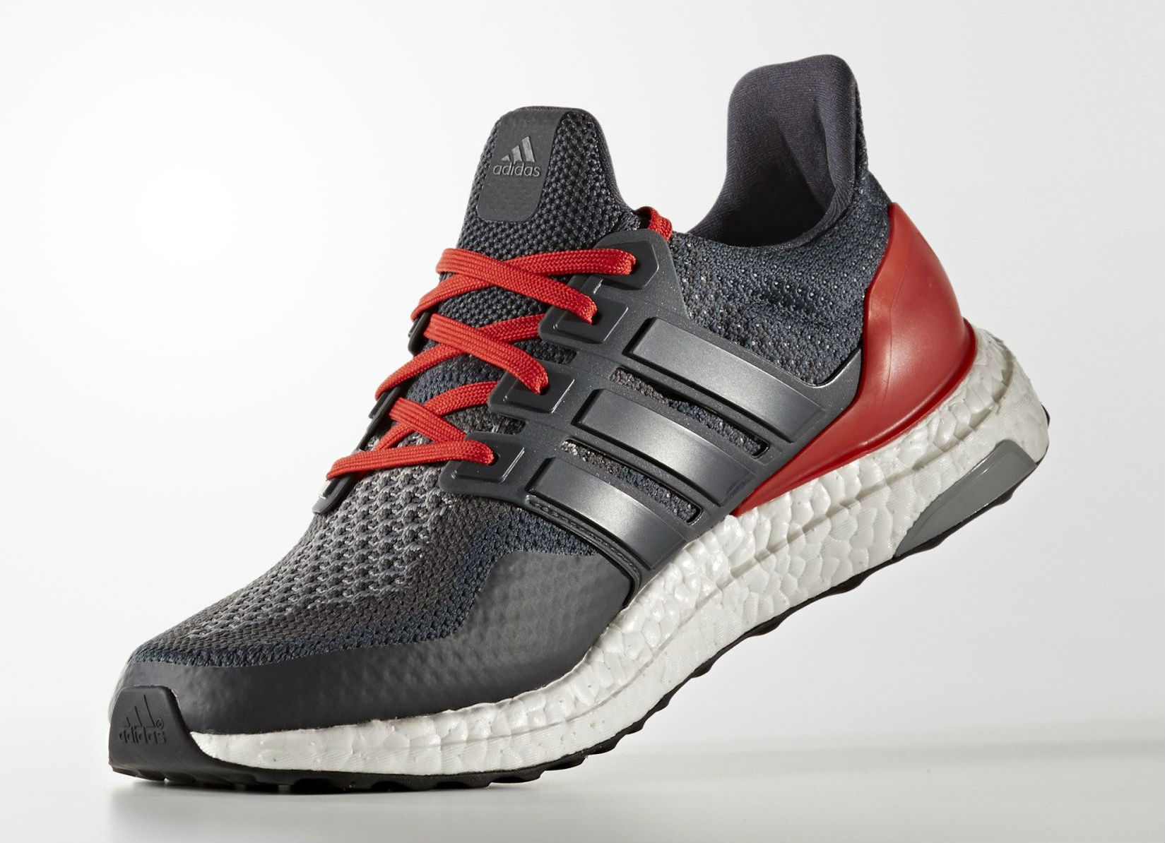 341f479da adidas Ultra Boost ATR Dark Grey Red Medial AQ5955