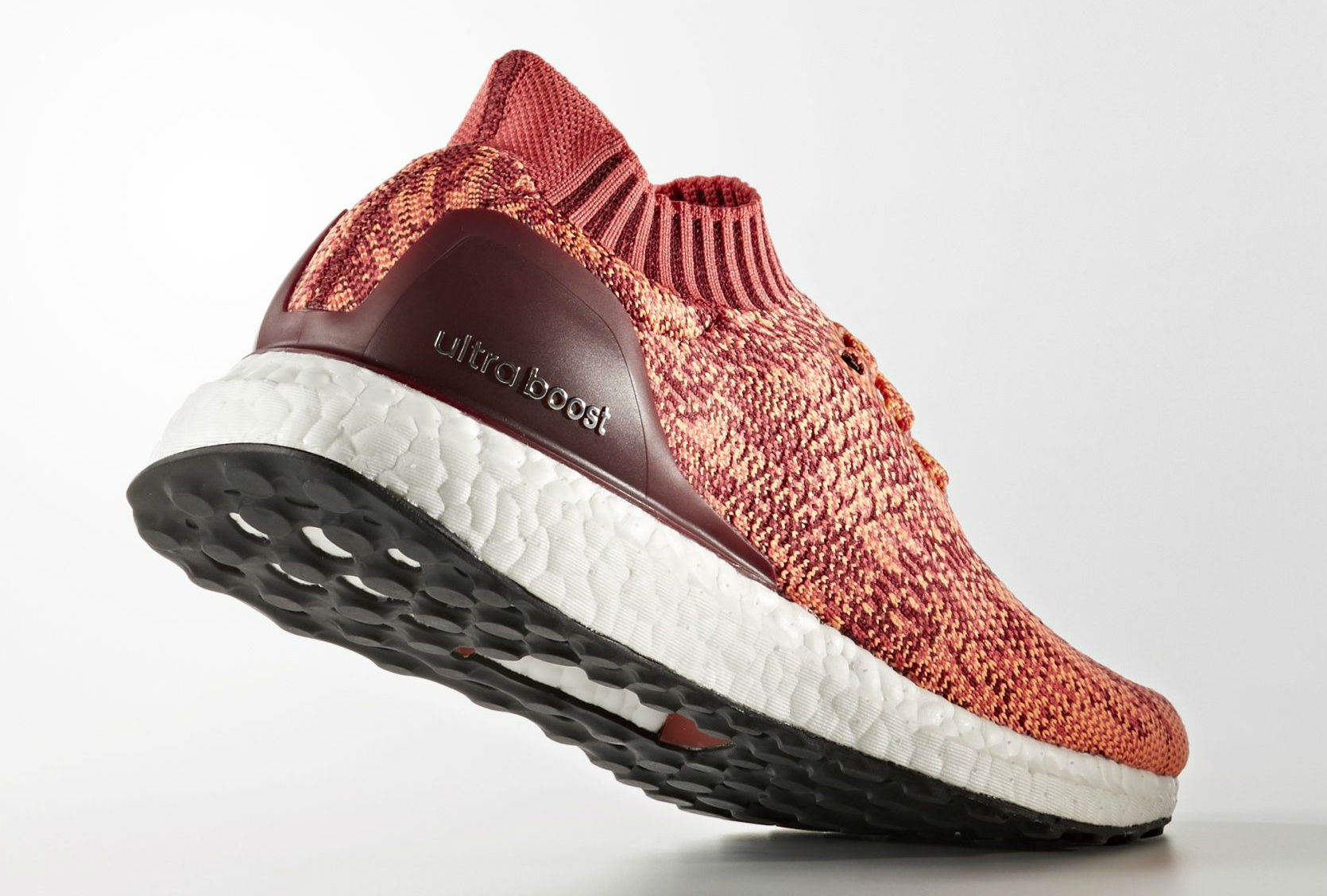 adidas Ultra Boost Uncaged Solar Red Orange Heel