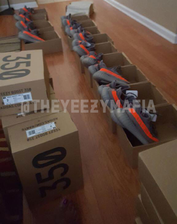 adidas Yeezy 350 Boost V2 Stealth Grey Beluga Solar Red BB1826 Boxes