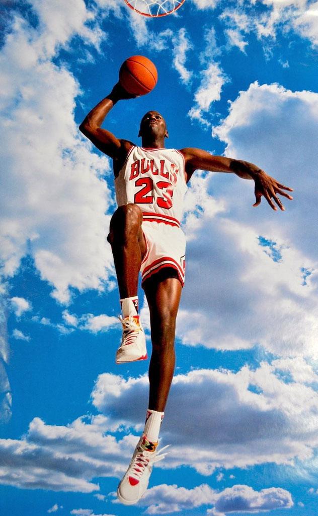 e53fe3d85179 Michael Jordan  Sky Jordan  Nike Air Jordan Poster (1992)