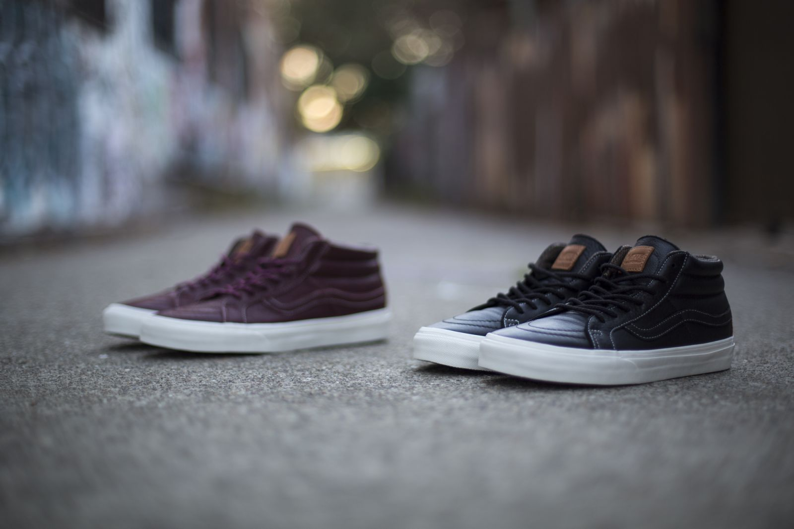 9ea4372de4e359 The Sk8 Hi Mid Waxed Leather Pack is available now from select Vans  California retailers